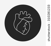 organ heart line icon | Shutterstock .eps vector #310281233