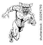 a werewolf wolf man character... | Shutterstock . vector #310291793