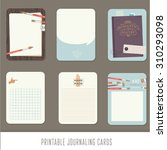 journaling cards  notes ... | Shutterstock .eps vector #310293098