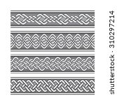 bracelet tattoo set in celtic... | Shutterstock .eps vector #310297214