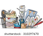 illustration of a stack of... | Shutterstock .eps vector #310297670