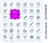 outline web icon set   party ... | Shutterstock .eps vector #310304639