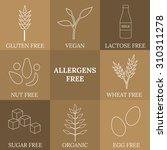 outline icons for allergens... | Shutterstock .eps vector #310311278