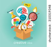 creative idea  think out of the ... | Shutterstock .eps vector #310319348