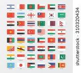 asian continent flags flat set | Shutterstock .eps vector #310320434