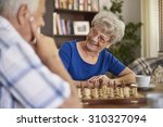 playing chess is a good way of... | Shutterstock . vector #310327094