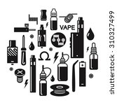 vector illustration of vape.... | Shutterstock .eps vector #310327499