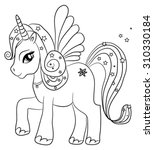 Cute Cartoon Fairytale Unicorn...
