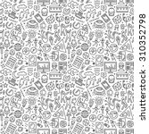 music seamless pattern with... | Shutterstock .eps vector #310352798