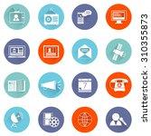 media communication icons flat... | Shutterstock . vector #310355873