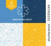 thin medical line art health... | Shutterstock .eps vector #310356164