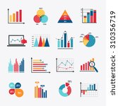 business data market elements... | Shutterstock . vector #310356719
