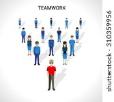 teamwork concept with group of... | Shutterstock . vector #310359956