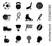 sport icons black set with... | Shutterstock . vector #310360280