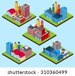 industrial buildings nuclear... | Shutterstock . vector #310360499