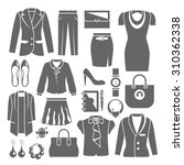 businesswoman clothes set with