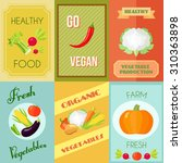 healthy food vegan and... | Shutterstock . vector #310363898