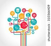 online education tree concept... | Shutterstock . vector #310366409