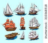 sailing tall ships yachts and... | Shutterstock . vector #310368518