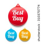 best buy round tag | Shutterstock .eps vector #310370774