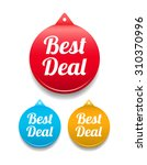 best deal round tag | Shutterstock .eps vector #310370996