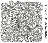 pattern for coloring book.... | Shutterstock .eps vector #310376318