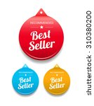 best seller round tag | Shutterstock .eps vector #310380200