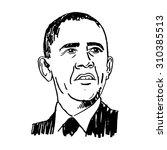 portrait of the president of... | Shutterstock .eps vector #310385513