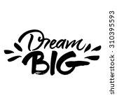 'dream big' hand painted brush... | Shutterstock .eps vector #310395593