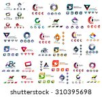 universal set of abstract logos.... | Shutterstock .eps vector #310395698