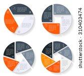big set of vector round... | Shutterstock .eps vector #310403474