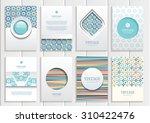 stock vector set of brochures... | Shutterstock .eps vector #310422476