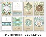 stock vector set of brochures... | Shutterstock .eps vector #310422488