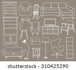 vector illustration of living... | Shutterstock .eps vector #310425290