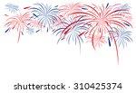 firework design on white... | Shutterstock .eps vector #310425374