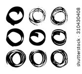 abstract black ink circles set... | Shutterstock .eps vector #310430408