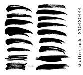 black ink big strokes set on... | Shutterstock .eps vector #310430444