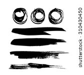 abstract black ink circles and... | Shutterstock .eps vector #310430450