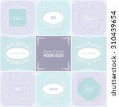 frames set. wedding templates.... | Shutterstock .eps vector #310439654