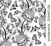 seamless floral ornate  pattern ...   Shutterstock .eps vector #310447136
