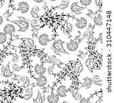 seamless floral ornate  pattern ...   Shutterstock .eps vector #310447148