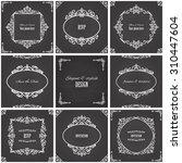 vintage frames set on... | Shutterstock .eps vector #310447604
