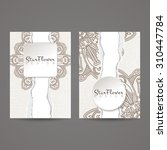 a set of two designs for... | Shutterstock .eps vector #310447784