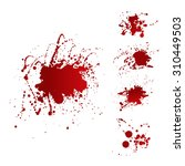 messy red stains of blood or... | Shutterstock .eps vector #310449503