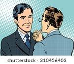 dialogue conversation... | Shutterstock .eps vector #310456403