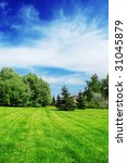 green lawn in city park | Shutterstock . vector #31045879