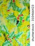texture fabric vintage hawaiian ... | Shutterstock . vector #310466423