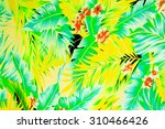 texture fabric vintage hawaiian ...   Shutterstock . vector #310466426