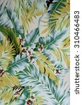 texture fabric vintage hawaiian ... | Shutterstock . vector #310466483