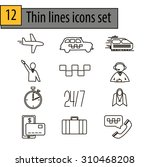 line icons for taxi service | Shutterstock .eps vector #310468208